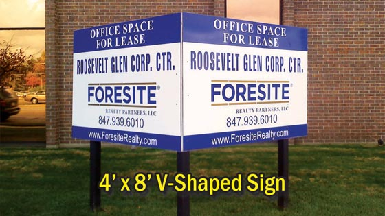 4 x 8 V-Shape Real Estate Sign