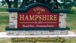 Custom Design Monument Sign