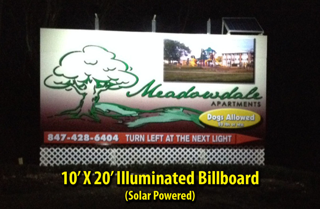 Rt 25 Billboard Night
